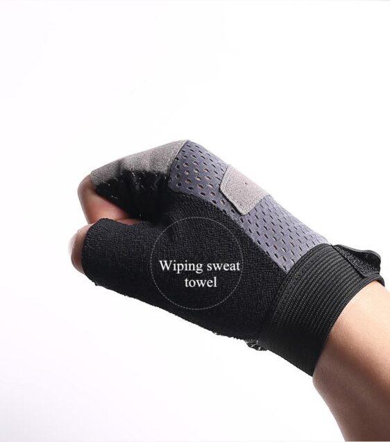 Slick Steel Gray Anti-Slip Superfine Fiber Yoga Gloves for Sweaty Hands - Yoga Gloves - Chakra Galaxy