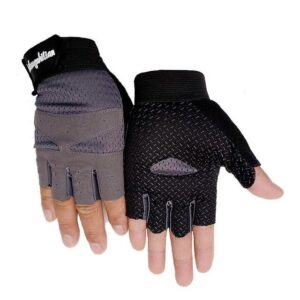 Slick Steel Gray Anti-Slip Superfine Fiber Yoga Gloves for Sweaty Hands - Yoga Gloves - Chakra Galaxy