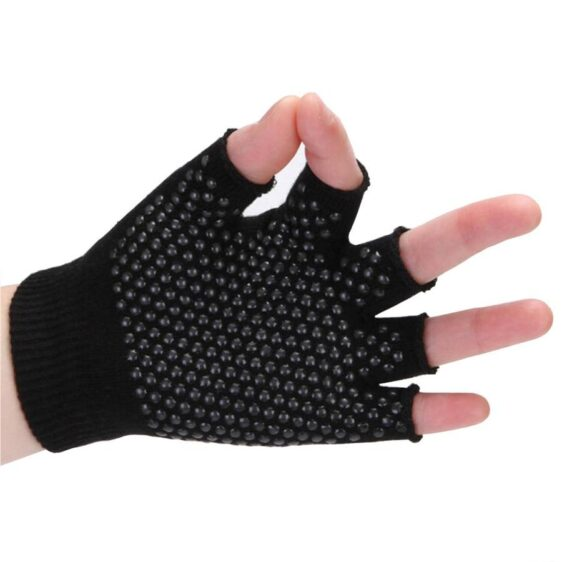 Spider Black with Transparent Silica Gels Yoga Workout Gloves - Yoga Gloves - Chakra Galaxy