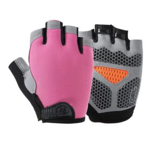 Staggering Magenta Pink Yoga Workout Gloves with Silica Gels - Yoga Gloves - Chakra Galaxy