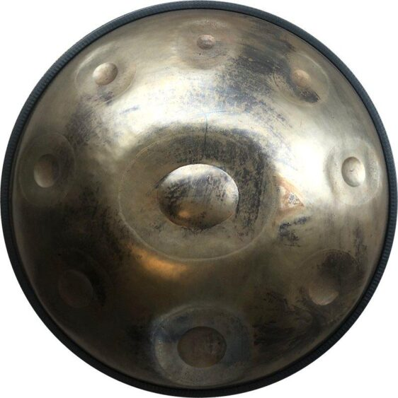 Stainless Steel 9 Note Handpan in D Minor for Professionals - Handpans - Chakra Galaxy