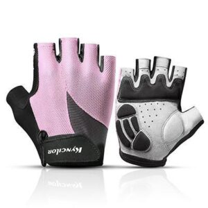 Superlative Flamingo Pink Thick Padded Workout Fiber Yoga Gloves - Yoga Gloves - Chakra Galaxy