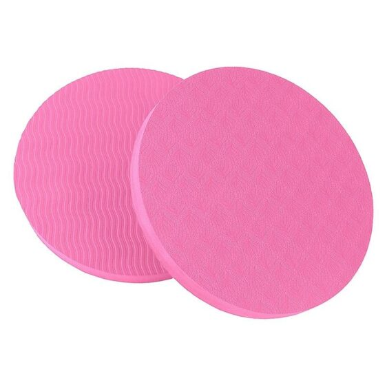 Travel Pair of Rosy Pink Knee or Elbow Non-Slip Round Yoga Pad TPE - Yoga Mats - Chakra Galaxy