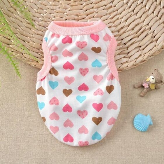 Heart Darling Pattern Summer Outfit Puppy Tank Top - Woof Apparel