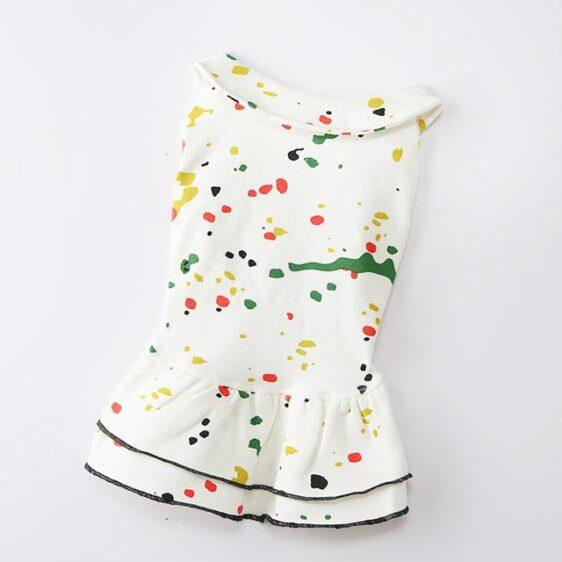 Creative Sassy Color Sprinkled Design Spring Dog Dress - Woof Apparel