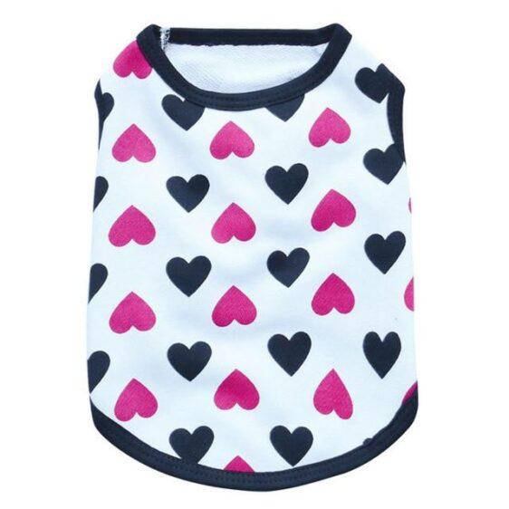 Beautiful Heart Design Pattern Summer Puppy Tank Top - Woof Apparel