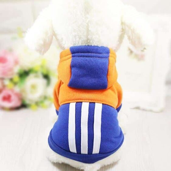 Cute Colorful Winter Jersey Jacket Small Dog Hoodie - Woof Apparel