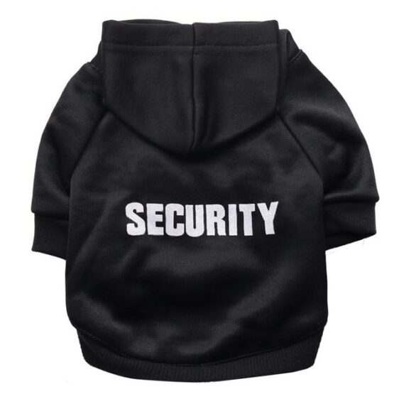 Classical Security Dog Clothes Warm Fleece Winter Hoodie - Woof Apparel