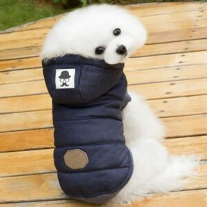 Hipster Soft Cotton Fleece Warm Hooded Winter Vest For Dogs - Woof Apparel