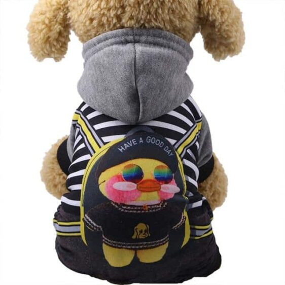 Sporty Chick Character Hoodie Warm Jumpsuit For Dogs - Woof Apparel