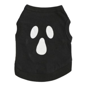 Wry Face Print Summer Clothes Black Small Dog Shirt - Woof Apparel