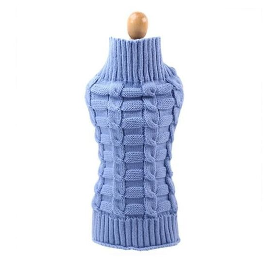 8 Colors Knitted Turtleneck Winter Puppy Sweatshirt - Woof Apparel
