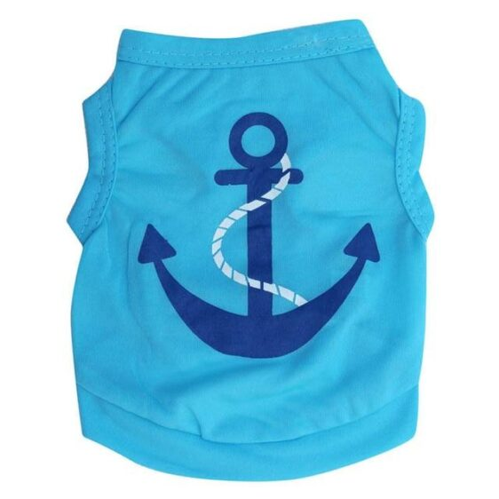 Sailors Anchor Breathable Summer Clothing Puppy Shirt - Woof Apparel