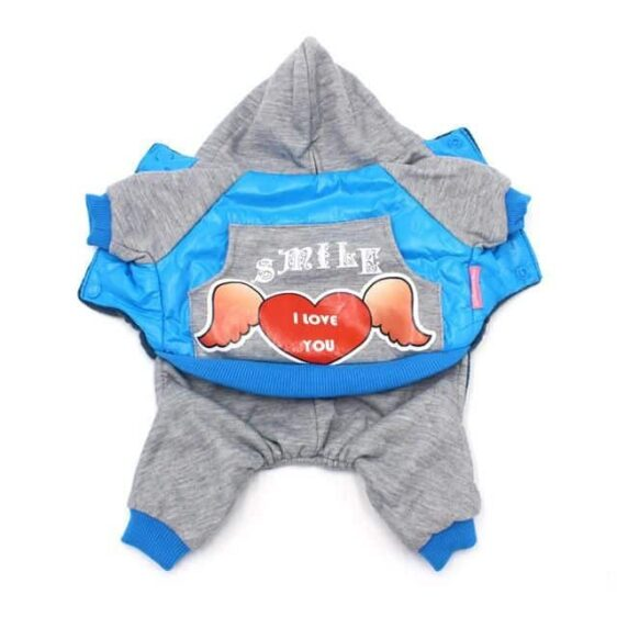 Winter Fashion With Warm Fleece Lining Jumpsuit For Dogs - Woof Apparel