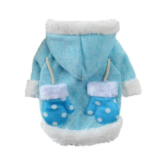 Christmas Santa With Mittens Knit Winter Coat For Dogs - Woof Apparel