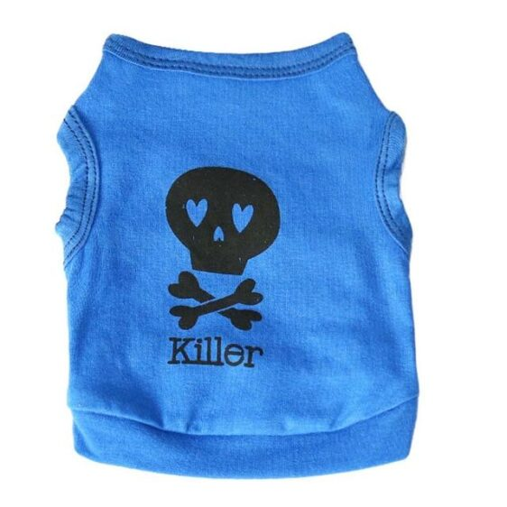 Skull Killer Printed Dog Summer Cotton Puppy Shirt - Woof Apparel