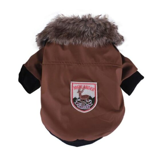 Leather Winter Fur Coat Warm Fleece Lining For Small Dogs - Woof Apparel