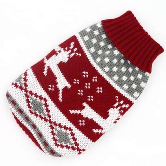 Christmas Deer Knitted Crochet Outfit Puppy Sweater - Woof Apparel