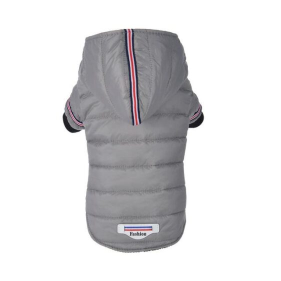 Fashion Track Stripe Winter Hooded Jacket For Small Dogs - Woof Apparel