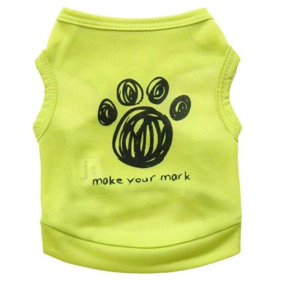 Make Your Mark Paw Pattern Dog Vest Summer Puppy Shirt - Woof Apparel