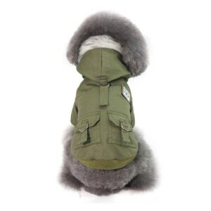 Fancy Soft Fur With Pockets Hooded Coat For Small Dogs - Woof Apparel