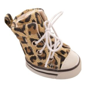 Leopard Rubber Anti-Slid Boots Sneakers Type Dog Shoes - Woof Apparel