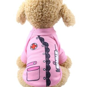 Adorable Little Nurse Soft Winter Coat Small Dog Sweatshirt - Woof Apparel