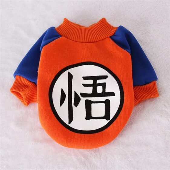 Son Goku Orange Anime Winter Outfit Puppy Sweatshirt - Woof Apparel