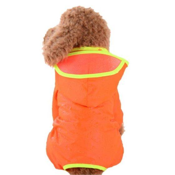 Cute Candy Colored Waterproof Hoodie With Brim Raincoat - Woof Apparel