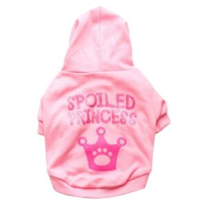 Spoiled Princess Statement Winter Hoodie For Small Dogs - Woof Apparel