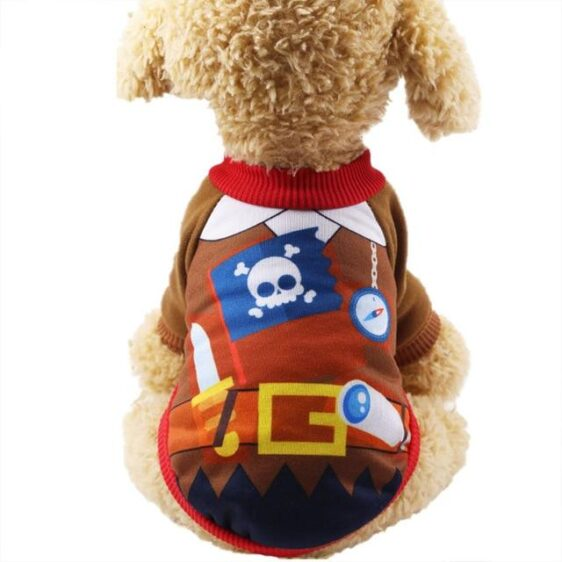 Adorable Little Pirate Warm Winter Sweater For Dogs - Woof Apparel