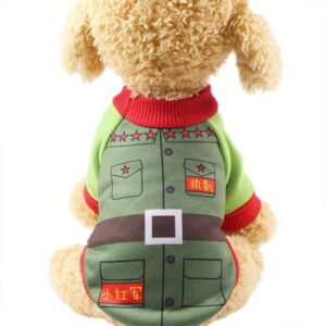 Little Red Army Winter Warm And Soft Puppy Sweater - Woof Apparel