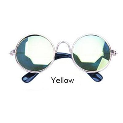Round-Shaped Sunglasses With Metal Frame For Your Pets - Woof Apparel