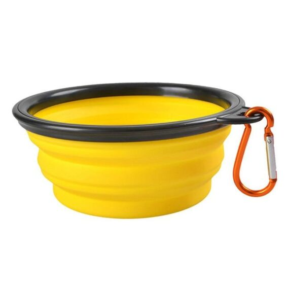 6 Colors Collapsible Silicon Outdoor Dog Food Bowl - Woof Apparel
