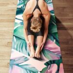 Versatile Leafy Green Suede Yoga Mat Cover for Pilates Workout - Yoga Towel - Chakra Galaxy
