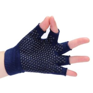 Versatile Ultramarine Blue Non-Slip Yoga Gloves for Sweaty Hands - Yoga Gloves - Chakra Galaxy