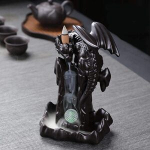 Waterfall Backflow Dragon LED Crystal Ball Incense Burner Holder - Incense & Incense Burners - Chakra Galaxy