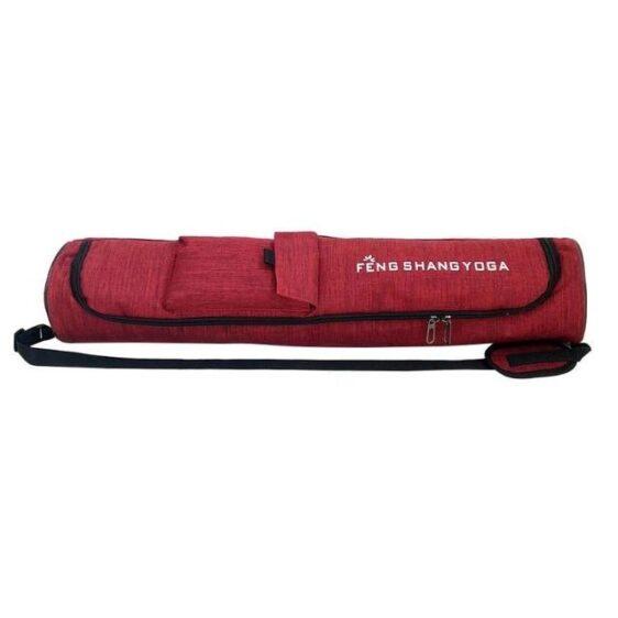 Waterproof Multi-pocket Double Zipper Red Yoga Mat Sports Shoulder Bag - Yoga Mat Bags - Chakra Galaxy