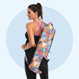 Waterproof Unisex Bohemian Style Printed Yoga Mat Shoulder Bag - Yoga Mat Bags - Chakra Galaxy