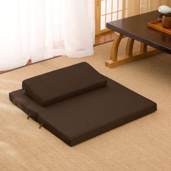 Zafu and Zabuton Tatami Natural Coconut Fibre Meditation Cushion Set - Meditation Seats & Cushions - Chakra Galaxy