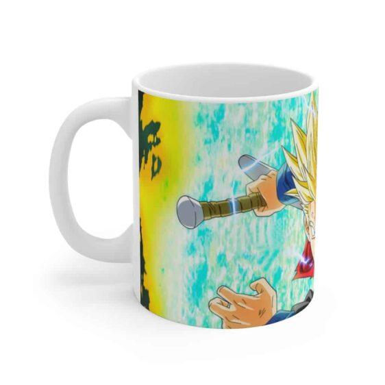 Dragon Ball Z Super Saiyan Trunks Scream Cool Ceramic Mug