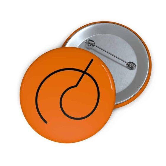 Dragon Ball Resurrection F Whis Symbol Orange Pinback Button