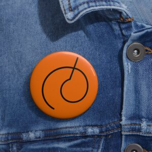 Dragon Ball Resurrection F Whis Symbol Orange Pinback Button