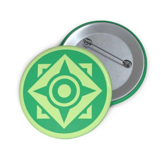DBS Universe 3 The Spiritual Universe Symbol Green Pin Button