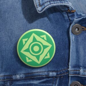 DBS Universe 3 The Spiritual Universe Symbol Green Pin Button
