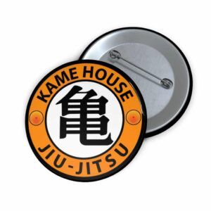 Dragon Ball Kame House Jiu-Jutsu Roshi Kanji Cool Pin Button