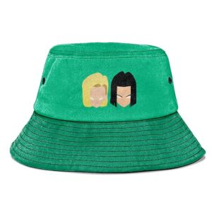 Android 17 and 18 Dragon Ball Z Mint Green Cool Bucket Hat
