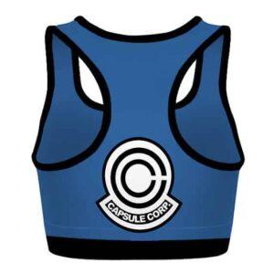 Capsule Corp Dragon Ball Z Blue and Purple Cool Sports Bra