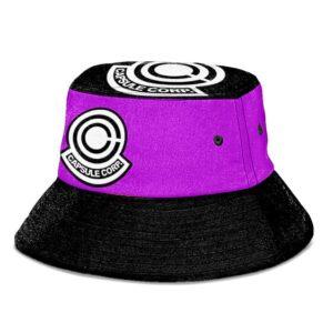Capsule Corporation Dragon Ball Z Purple Black Bucket Hat