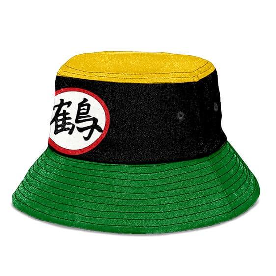 Chiaotzu Kanji Symbol Black Green and Yellow Cool Bucket Hat